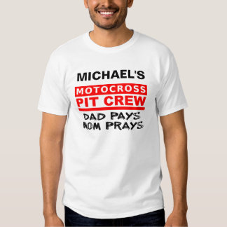 Parental Pit Crew Dirt Bike Motocross T-Shirt