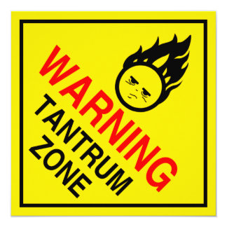 Parental Warning  Signs Mini Posters 5.25x5.25 Square Paper Invitation Card