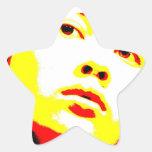 Parentescos maníacos 6 pegatinas forma de estrella personalizadas