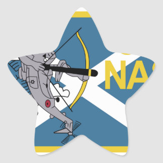 Parentescos navales del mar de la escuadrilla de pegatina en forma de estrella
