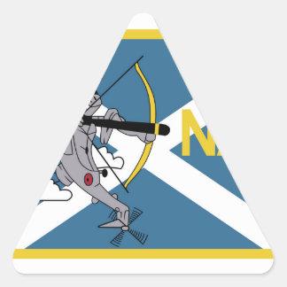 Parentescos navales del mar de la escuadrilla de pegatina triangular