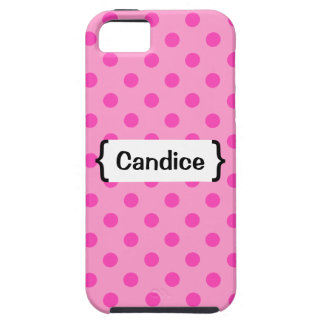 { Parenthetically Pink Polka Dots } iPhone 5 Cases