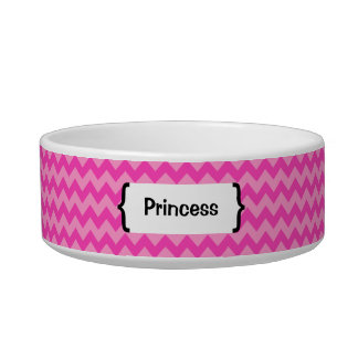 { Parenthetically Pink Zig Zag } Cat Food Bowls