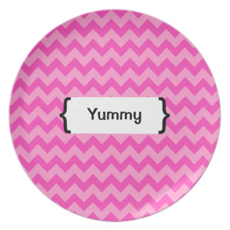 { Parenthetically Pink Zig Zag } Plate
