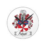 Parenti Family Crest Round Clock