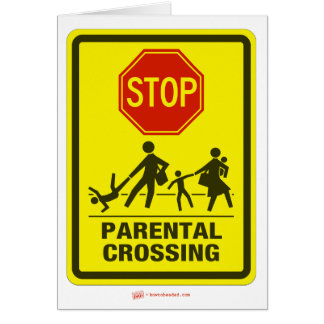 Parenting Crossing Holiday Greeting Card