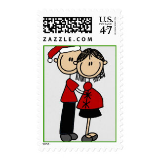 Parents 2 be Christmas Postage Stamp