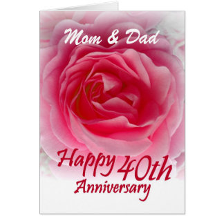 Parents 40th Anniversary Cards