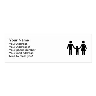 Parents al hijo del niño tarjetas de visita mini