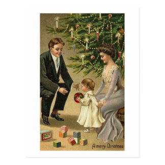 Parents and Child Christmas Card Post Cards