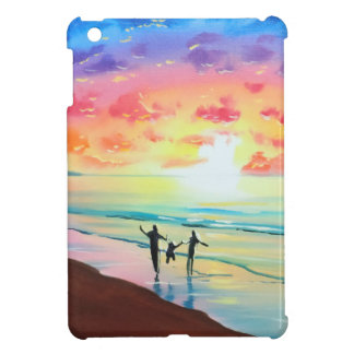 Parents and child sunset seascape case for the iPad mini