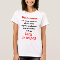 Parent's Back to School Party T-Shirt