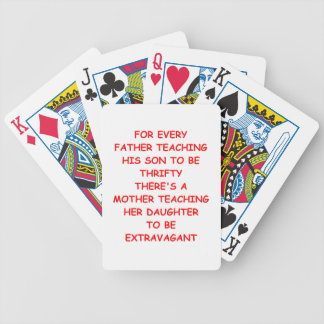 PARENTS BICYCLE PLAYING CARDS