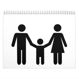 Parents child son calendar
