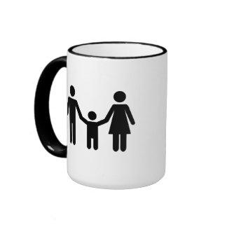 Parents child son coffee mug