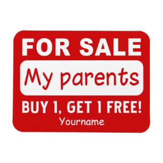 PARENTS FOR SALE custom magnet Magnet