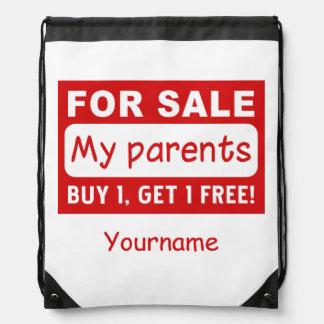 PARENTS FOR SALE custom monogram bags Rucksack