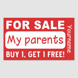 PARENTS FOR SALE custom stickers