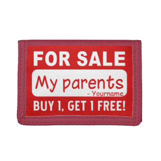 PARENTS FOR SALE custom wallets