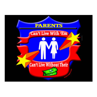 Parents Funny T-shirts Gifts Postcard