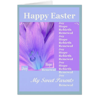 PARENTS - Happy Easter with Lily Greeting Card