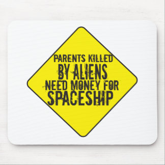 Parents Killed By Aliens Mouse Pad