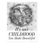 Parents make our worlds beautiful postcard