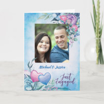 Parents of Groom, Formal Photo Engagement Announce Card