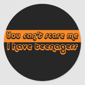 Parents of Teens Halloween Classic Round Sticker