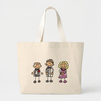 Parents Of The Groom On Wedding Day Large Tote Bag