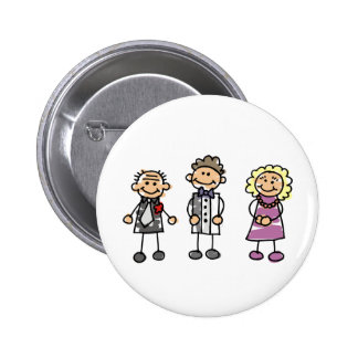 Parents Of The Groom On Wedding Day Pinback Button