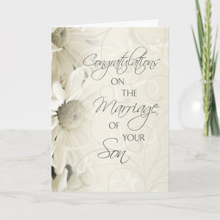 Parents Of The Groom Wedding Congratulations Card Zazzle Com