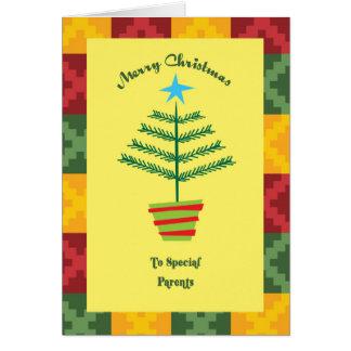 Parents Primsy Christmas Card