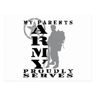 Parents Proudly Serves - ARMY Postcard