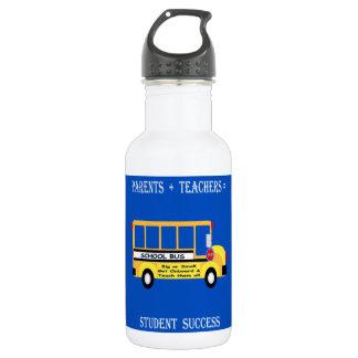 Parents + Teachers = Student Success Stainless Steel Water Bottle
