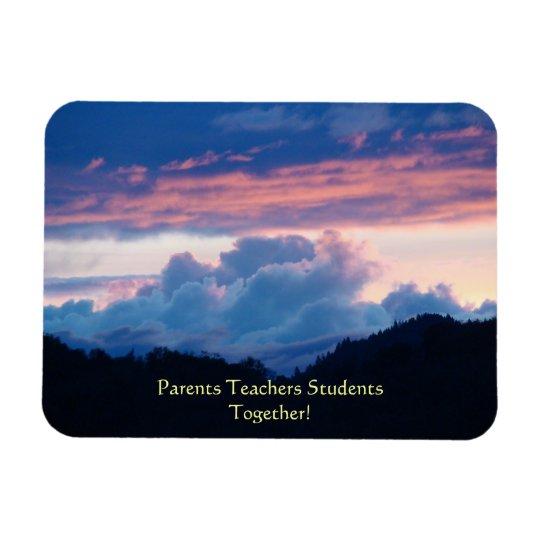 Parents Teachers Students magnets Sunset Clouds