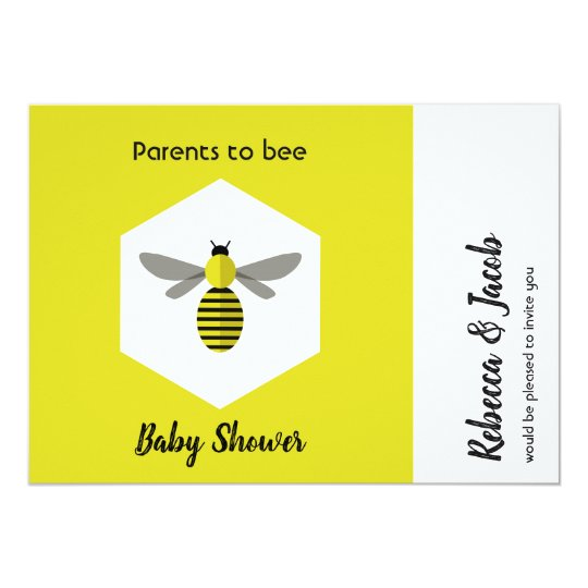Parents To Bee Baby Shower Invitation Zazzle Com