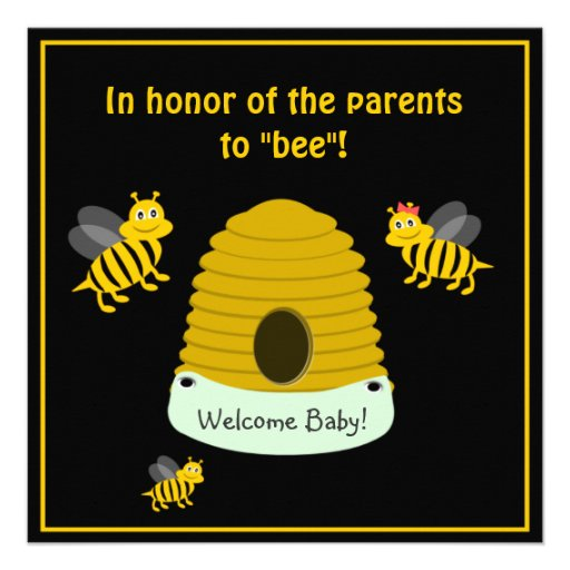 parents to bee bumble bee baby shower personalized invite zazzle