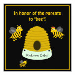 Parents To Bee Bumble Bee Baby Shower 5.25x5.25 Square Paper Invitation Card