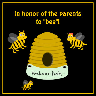 Bee And Beehive Baby Shower Invitations Zazzle