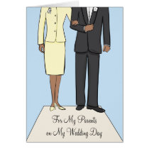 Parents Wedding African American Thank You Card