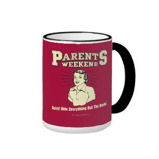 Parents Weekend: Hide Everything Ringer Coffee Mug
