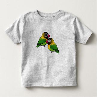 Pares adorables enmascarados del Lovebird Playera De Niño