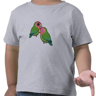 pares adorables Melocotón-hechos frente del Lovebi Camiseta