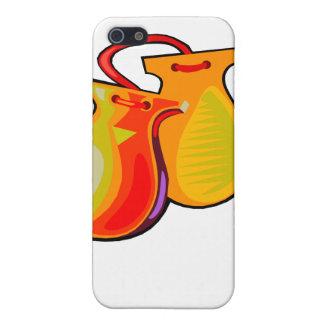 Pares amarillos de las castañuelas iPhone 5 cárcasas