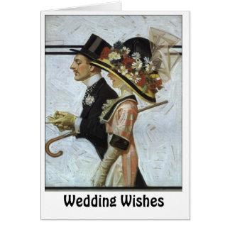Pares aristocráticos tarjeta de felicitación