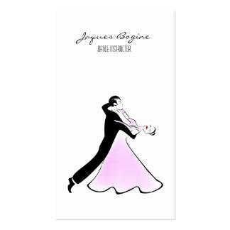 Pares artísticos del baile de salón de baile del tarjetas de visita