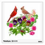 Pares cardinales en etiqueta de la pared del jardí