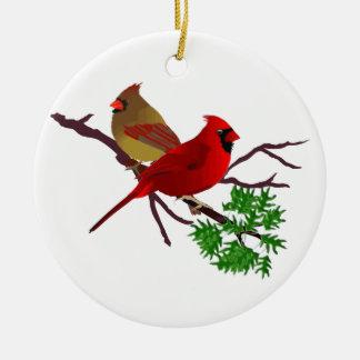 Pares cardinales en una rama ornato