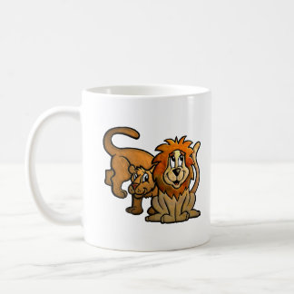 Pares cariñosos del león taza de café